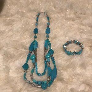 Western Summer Statement Necklace and bracelet set